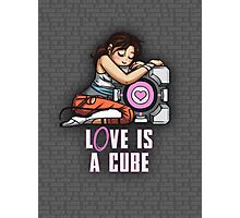 L0VE is a CUBE (Portal 2 ver.) Photographic Print