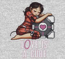 L0VE is a CUBE (Portal 1 ver.) Kids Clothes