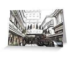 Savoy Hotel 2 Greeting Card