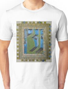 Orchard Of Frog Boxes - Framed Abstract Unisex T-Shirt