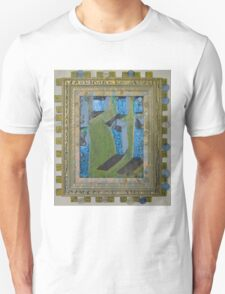 Orchard Of Frog Boxes - Framed Abstract T-Shirt