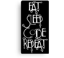 developer eat sleep code repeat Canvas Print