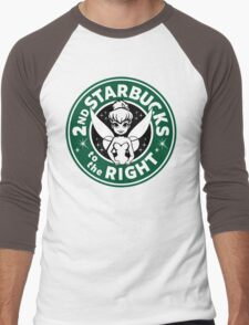 2nd Starbucks to the Right Men's Baseball ¾ T-Shirt