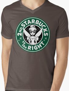 2nd Starbucks to the Right Mens V-Neck T-Shirt