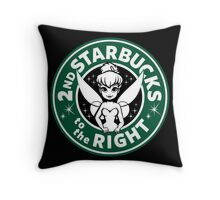 2nd Starbucks to the Right Throw Pillow