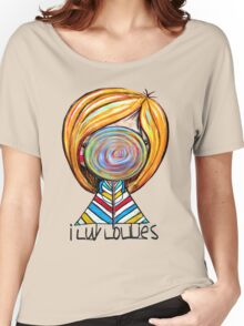 I LUV LOLLIES! Women's Relaxed Fit T-Shirt