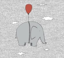 Elephant with a red balloon Kids Tee