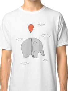 Elephant with a red balloon Classic T-Shirt