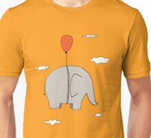 Elephant with a red balloon Unisex T-Shirt
