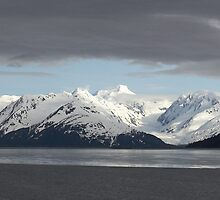 Spotlight on the Alaskan Range by Robert Elliott