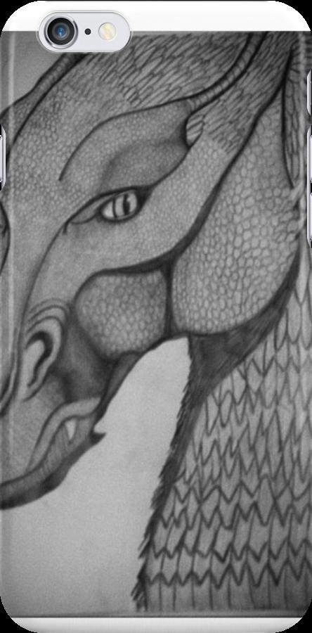 Eragon: Saphira pencil drawing by Kate Fraser