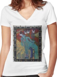 Allmarine - Abstract Women's Fitted V-Neck T-Shirt