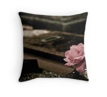 A Rose of Cloth Throw Pillow
