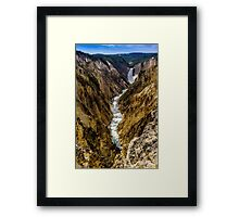 Lower Falls of Grand Canyon of Yellowstone Framed Print
