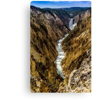 Lower Falls of Grand Canyon of Yellowstone Canvas Print