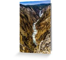 Lower Falls of Grand Canyon of Yellowstone Greeting Card