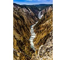 Lower Falls of Grand Canyon of Yellowstone Photographic Print
