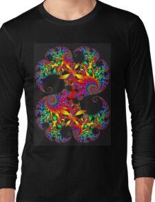 Classic Mandelbrot with Petals Long Sleeve T-Shirt