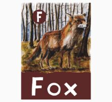 F is for Fox One Piece - Short Sleeve