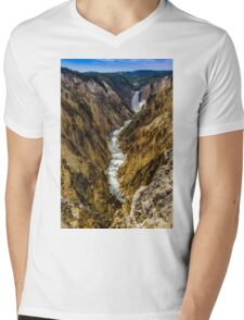Lower Falls of Grand Canyon of Yellowstone Mens V-Neck T-Shirt