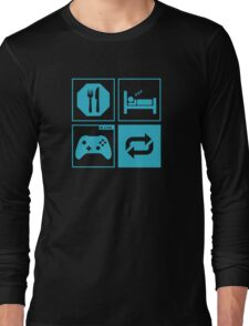 Eat, Sleep, Game, Repeat. Long Sleeve T-Shirt