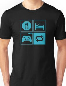 Eat, Sleep, Game, Repeat. Unisex T-Shirt
