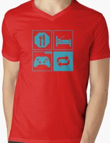 Eat, Sleep, Game, Repeat. Mens V-Neck T-Shirt