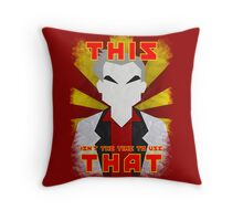 "Pokemon - Professor Oak: ""This isn't the time to use that!"" Throw Pillow"