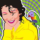 Sandra and the lorikeet by Matt Mawson