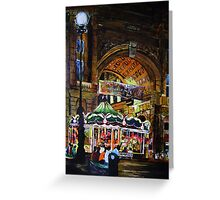Merry go round in Florence Greeting Card