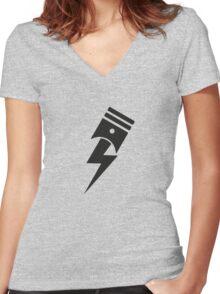 Bolt Piston Women's Fitted V-Neck T-Shirt