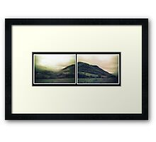muted landscape paired version Framed Print
