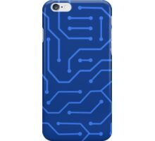 phone case -blue circuit  iPhone Case/Skin