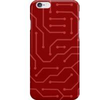 phone case -Red circuit iPhone Case/Skin