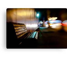 bench@night Canvas Print