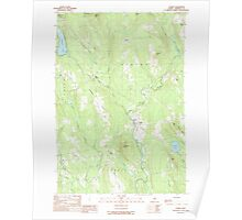 Maine USGS Historical Map Athens 104878 1989 24000 Poster