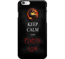 Mortal Kombat T-shirt Keep Calm and Finish Him iPhone Case/Skin