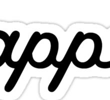 dapper (black) Sticker