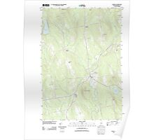 Maine USGS Historical Map Athens 20110906 TM Poster