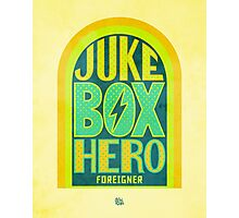 Foreigner Juke Box Hero Photographic Print