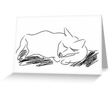 Sketched Cat 8 Greeting Card
