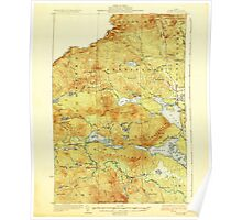 Maine USGS Historical Map Attean 460120 1925 62500 Poster