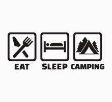 Eat sleep camping Kids Clothes