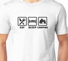 Eat sleep camping Unisex T-Shirt
