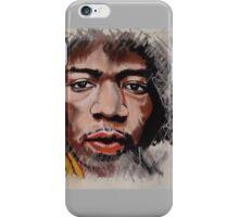 Jimmy Hendrix - Musician in Pastels iPhone Case/Skin