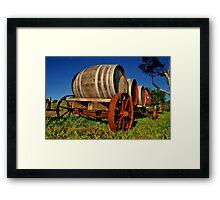 """On The Wagon"" Framed Print"