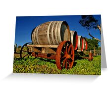 """On The Wagon"" Greeting Card"