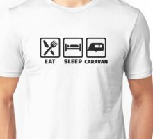 Eat sleep caravan Unisex T-Shirt