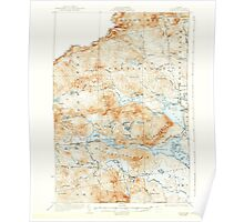 Maine USGS Historical Map Attean 460121 1925 62500 Poster