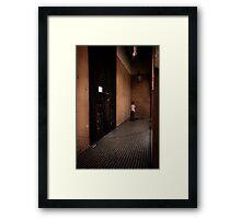 A quiet corner to pray Framed Print